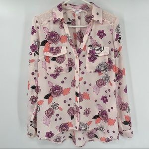 Candie's Cute Pink Floral Blouse